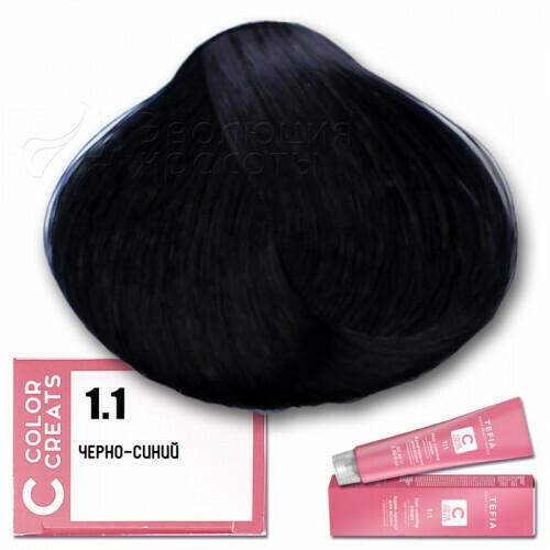 TEFIA - 1-1 Краска для волос Color Creats ЧЕРНО-СИНИЙ, 60мл