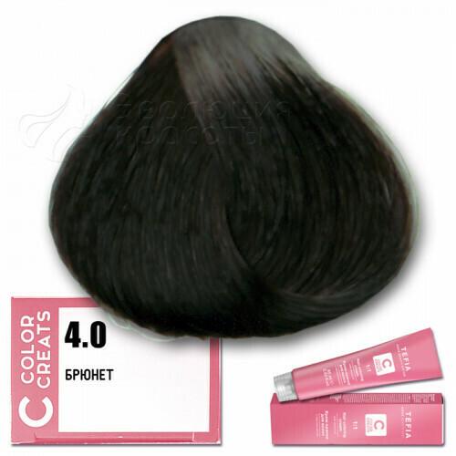 TEFIA - 4-0 Краска для волос Color Creats БРЮНЕТ, 60мл