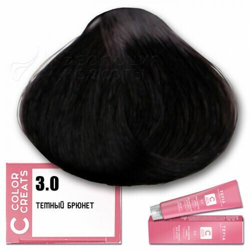 TEFIA - 3-0 Краска для волос Color Creats ТЕМНЫЙ БРЮНЕТ, 60мл