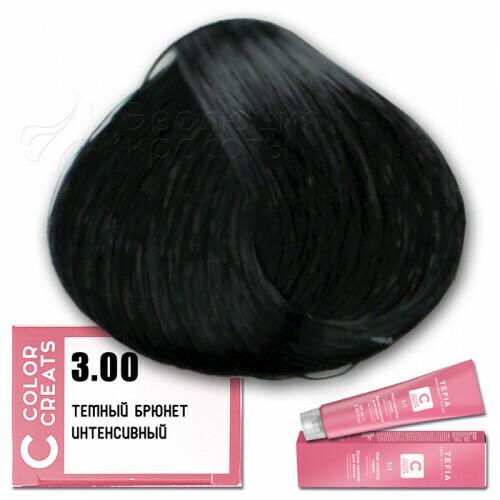 TEFIA - 3-00 Краска для волос Color Creats ТЕМНЫЙ БРЮНЕТ ИНТЕНСИВНЫЙ, 60мл