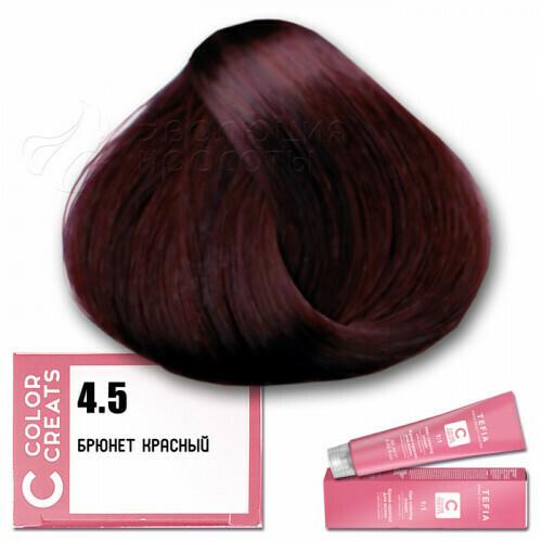 TEFIA - 4-5 Краска для волос Color Creats БРЮНЕТ КРАСНЫЙ, 60мл