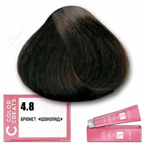 TEFIA - 4-8 Краска для волос Color Creats БРЮНЕТ ШОКОЛАД, 60мл