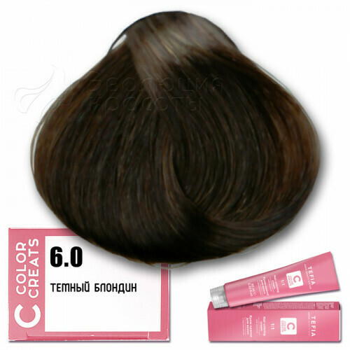 TEFIA - 6-0 Краска для волос Color Creats ТЕМНЫЙ БЛОНДИН, 60мл
