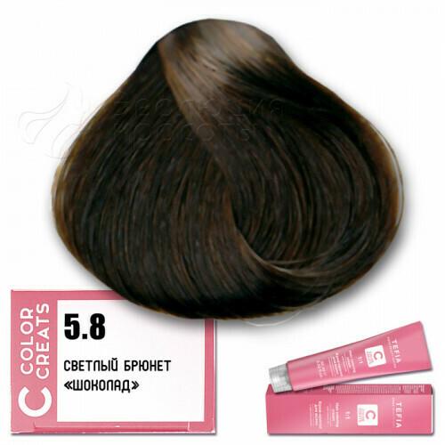 TEFIA - 5-8 Краска для волос Color Creats СВЕТЛЫЙ БРЮНЕТ ШОКОЛАД, 60мл