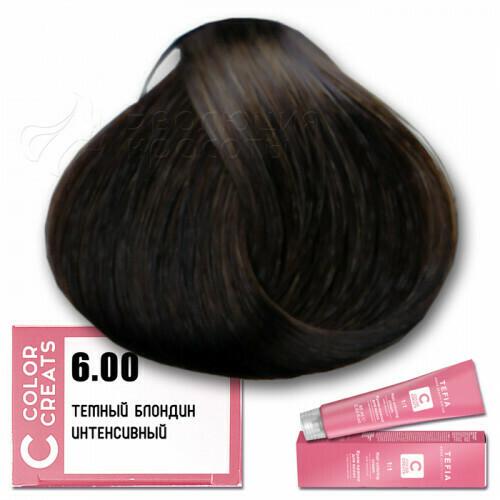 TEFIA - 6-00 Краска для волос Color Creats ТЕМНЫЙ БЛОНДИН ИНТЕНСИВНЫЙ, 60мл