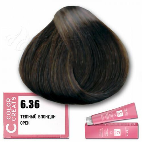 TEFIA - 6-36 Краска для волос Color Creats ТЕМНЫЙ БЛОНДИН ОРЕХ, 60мл