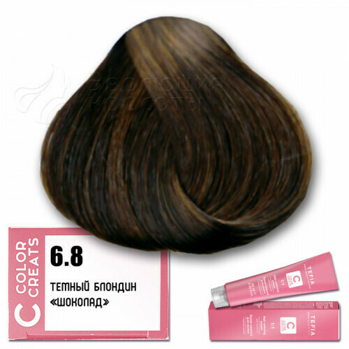 TEFIA - 6-8 Краска для волос Color Creats ТЕМНЫЙ БЛОНДИН ШОКОЛАД, 60мл