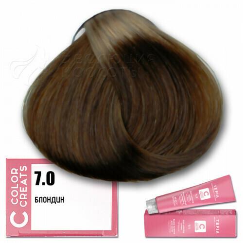 TEFIA - 7-0 Краска для волос Color Creats БЛОНДИН, 60мл