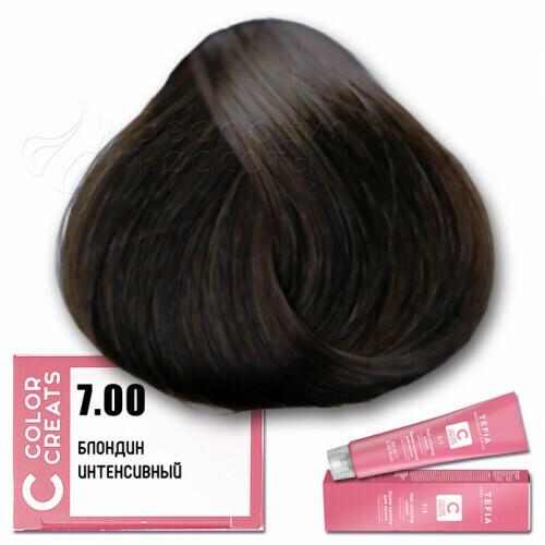 TEFIA - 7-00 Краска для волос Color Creats БЛОНДИН ИНТЕНСИВНЫЙ, 60мл