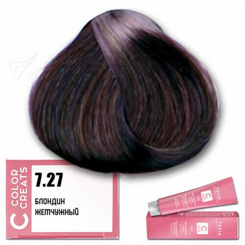 TEFIA - 7-27 Краска для волос Color Creats БЛОНДИН ЖЕМЧУЖНЫЙ, 60мл