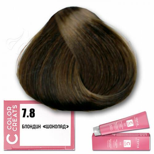 TEFIA - 7-8 Краска для волос Color Creats БЛОНДИН ШОКОЛАД, 60мл