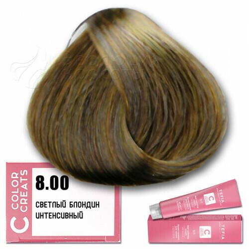 TEFIA - 8-00 Краска для волос Color Creats СВЕТЛЫЙ БЛОНДИН ИНТЕНСИВНЫЙ, 60мл