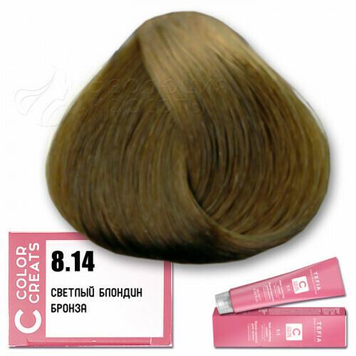 TEFIA - 8-14 Краска для волос Color Creats СВЕТЛЫЙ БЛОНДИН БРОНЗА, 60мл