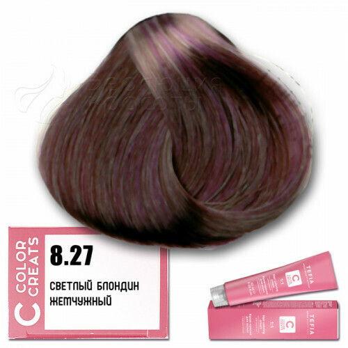 TEFIA - 8-27 Краска для волос Color Creats СВЕТЛЫЙ БЛОНДИН ЖЕМЧУЖНЫЙ, 60мл