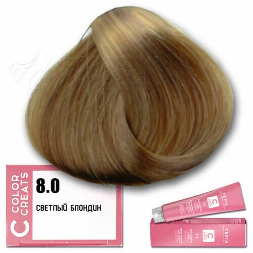 TEFIA - 8-0 Краска для волос Color Creats СВЕТЛЫЙ БЛОНДИН, 60мл