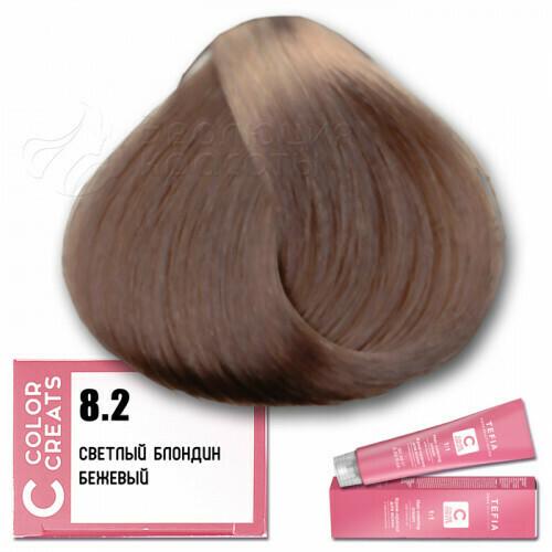 TEFIA - 8-2 Краска для волос Color Creats СВЕТЛЫЙ БЛОНДИН БЕЖЕВЫЙ, 60мл