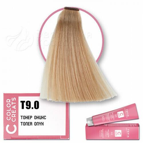 TEFIA - Т 9-0 Краска для волос Color Creats Тонер ОНИКС, 60мл