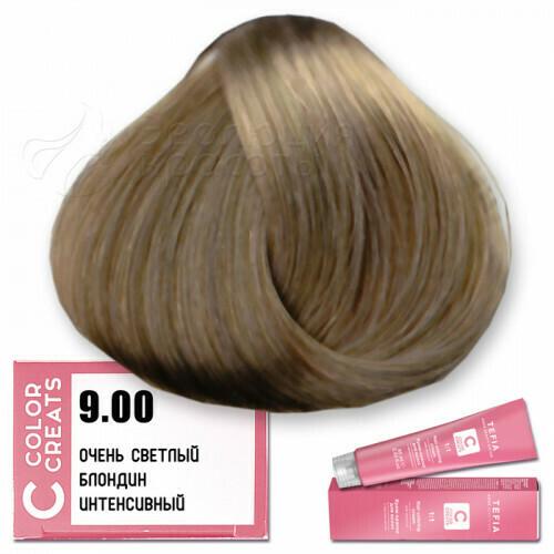 TEFIA - 9-00 Краска для волос Color Creats ОЧЕНЬ СВЕТЛЫЙ БЛОНДИН ИНТЕНСИВНЫЙ, 60мл
