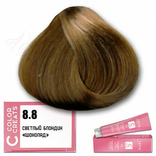 TEFIA - 8-8 Краска для волос Color Creats СВЕТЛЫЙ БЛОНДИН ШОКОЛАД, 60мл