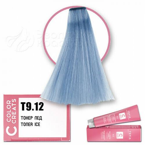 TEFIA - Т 9-12 Краска для волос Color Creats Тонер ЛЁД, 60мл