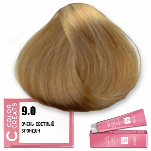 TEFIA - 9-0 Краска для волос Color Creats ОЧЕНЬ СВЕТЛЫЙ БЛОНДИН, 60мл