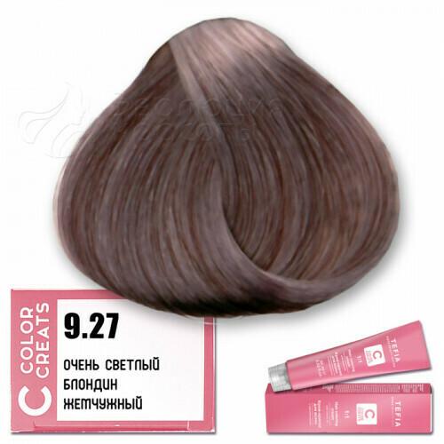 TEFIA - 9-27 Краска для волос Color Creats ОЧЕНЬ СВЕТЛЫЙ БЛОНДИН ЖЕМЧУЖНЫЙ, 60мл