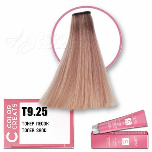 TEFIA - Т 9-25 Краска для волос Color Creats Тонер ПЕСОК, 60мл