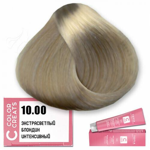 TEFIA - 10-00 Краска для волос Color Creats ЭКСТРА СВЕТЛЫЙ БЛОНДИН ИНТЕНСИВНЫЙ, 60мл