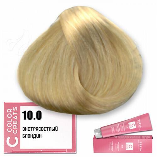 TEFIA - 10-0 Краска для волос Color Creats ЭКСТРА СВЕТЛЫЙ БЛОНДИН, 60мл