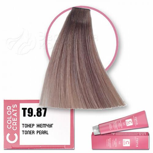 TEFIA - Т 9-87 Краска для волос Color Creats Тонер ЖЕМЧУГ, 60мл