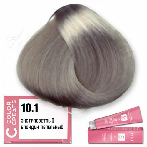 TEFIA - 10-1 Краска для волос Color Creats СВЕТЛЫЙ БЛОНДИН ПЕПЕЛЬНЫЙ, 60мл