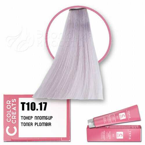 TEFIA - Т 10-17 Краска для волос Color Creats Тонер ПЛОМБИР, 60мл