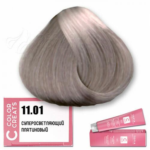 TEFIA - 11-01 Краска для волос Color Creats СУПЕРОСВЕТЛЯЮЩИЙ ПЛАТИНОВЫЙ, 60мл