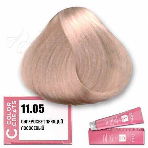 TEFIA - 11-05 Краска для волос Color Creats СУПЕРОСВЕТЛЯЮЩИЙ ЛОСОСЕВЫЙ, 60мл