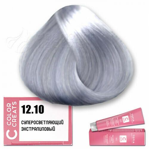 TEFIA - 12-10 Краска для волос Color Creats СУПЕРОСВЕТЛЯЮЩИЙ ЭКСТРА ЛИЛОВЫЙ, 60мл