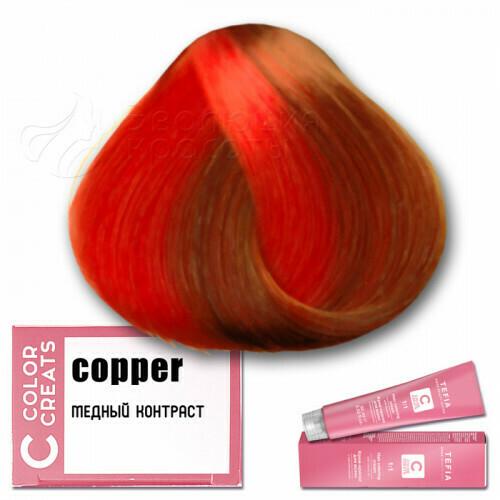 TEFIA - Краска для волос Контраст МЕДНЫЙ Color Creats, 60мл