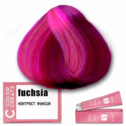 TEFIA - Краска для волос Контраст ФУКСИЯ Color Creats, 60мл