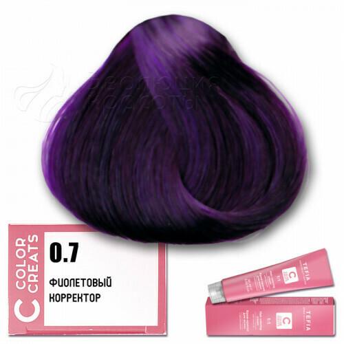 TEFIA - 0-7 Краска для волос Color Creats ФИОЛЕТОВЫЙ, 60мл