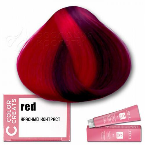 TEFIA - Краска для волос Контраст КРАСНЫЙ Color Creats, 60мл