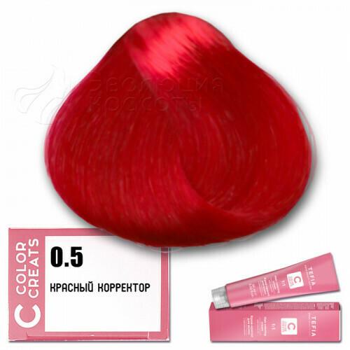TEFIA - 0-5 Краска для волос Color Creats КРАСНЫЙ, 60мл