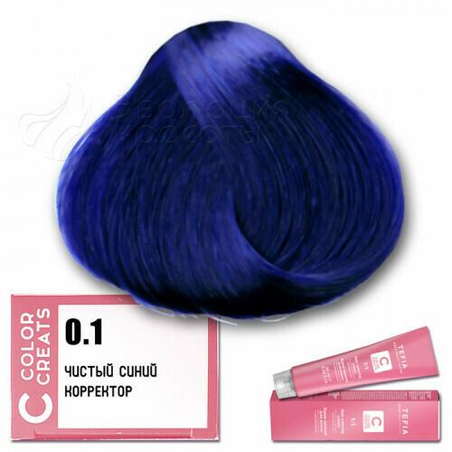 TEFIA - 0-1 Краска для волос Color Creats ЧИСТЫЙ СИНИЙ,  60мл