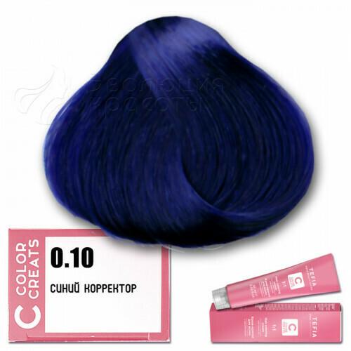 TEFIA - 0-10 Краска для волос Color Creats СИНИЙ,  60мл