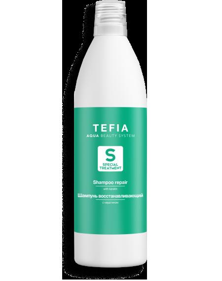 TEFIA - Шампунь восстанавливающий с Кератином без SLS и SLES SPECIAL TREATMENT, 1000мл