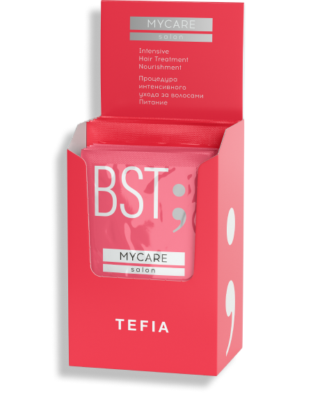 """TEFIA - Процедура интенсивного ухода за волосами  """"ПИТАНИЕ"""" (Концентат+Бустер), 5x(10мл+20мл)"""