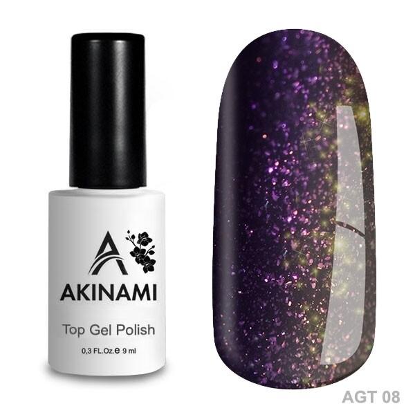 Akinami Топ для гель-лака Glitter Top 8, 9мл