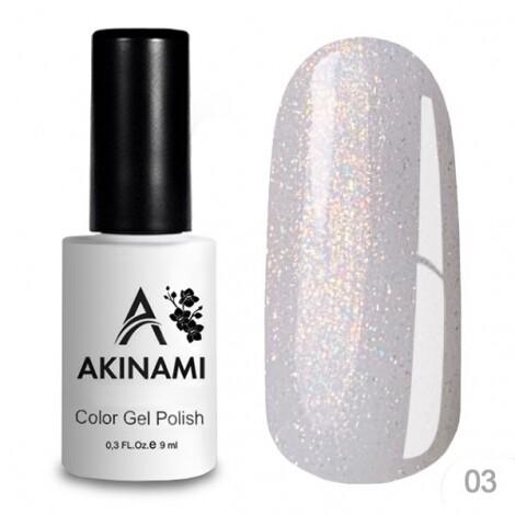 Akinami База каучуковая для гель-лака Glitter Base Gel 3, 9мл
