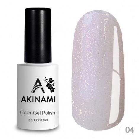Akinami База каучуковая для гель-лака Glitter Base Gel 4, 9мл