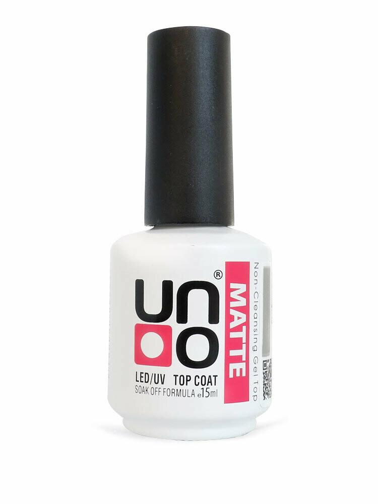 UNO Верхнее покрытие для гель-лака UNO MATTE с бархатным эффектом, 15мл