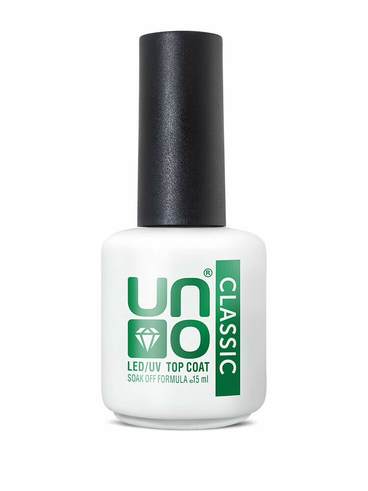 UNO Верхнее покрытие для гель-лака UNO CLASSIC с липким слоем, 15мл