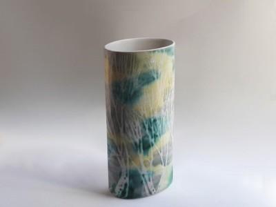Vintage Andersen Design Tall Oval Column Vase By Brenda Andersen